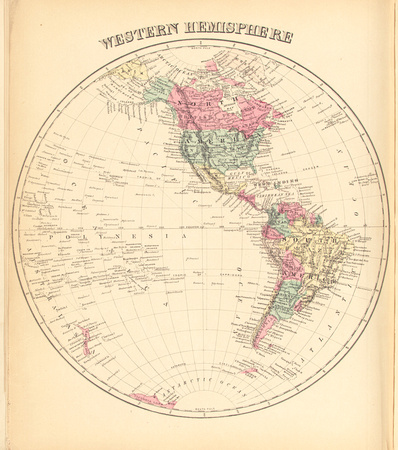 Map of the Western Hemisphere